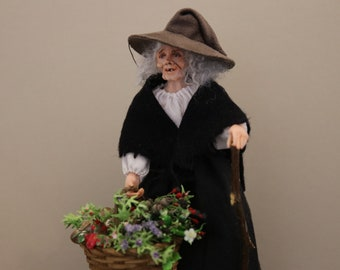 Minerva - An Artisan Hand Sculpted 1/12 Scale Witch Character Doll