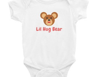 Cute Baby Bear Onesie Lil Hug Bear 100% cotton