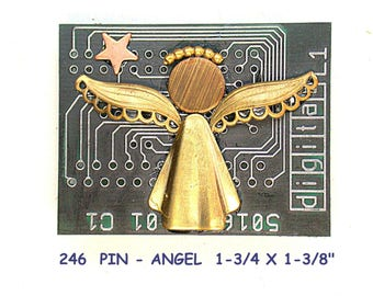 Recycled Circuit Board ANGEL pin cb246