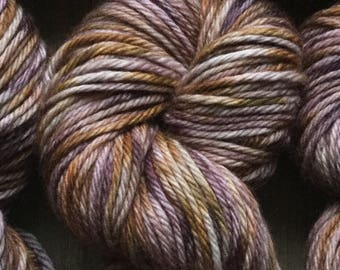 Hand Dyed Yarn, Bulky Weight 4ply, 100% Superwash Merino Wool, Browns Hand Dyed on Bulky Yarn
