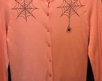 Spider Hand Painted cardigan