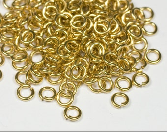 20g 2.5 mm ID 4.2 mm OD NuGold brass jump rings -- 20g2.50 open jumprings
