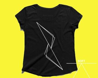 Triangles design women tshirt