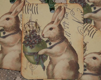 Spring Easter Bunny Gift Tags