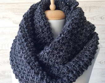 Mens Scarf, Chunky Scarf, Knit Men Scarf, Infinity Scarf, Mens Scarf, Knitted Scarf, Scarf /Fast Delivery and Many Colors