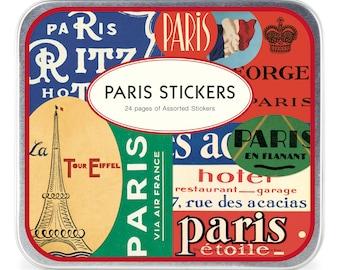 Vintage images Paris stickers