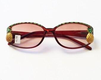 Sunglasses Reading Glasses, +1.50 Pineapple
