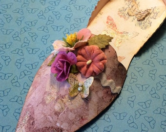 Spring Floral and Butterfly Paper Shoe
