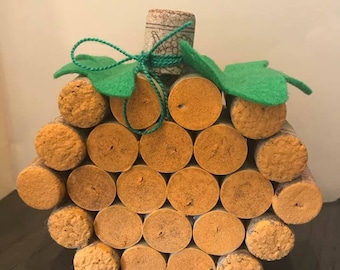 Handmade Wine Cork Pumpkin