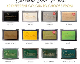 VersaColor Pigment-Based Ink Pads | Rubber Stamp Pad | 42 Colors to Choose From