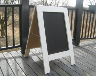 Standing A-frame wedding shower sandwich chalkboard Sidewalk sign A frame solid wood business menu chalkboard 40 x 25 inches.