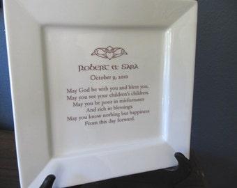 Irish Wedding Blessing Platter