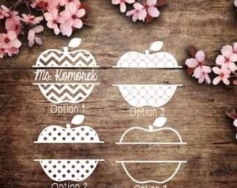 Teacher Apple Name Decal • Teacher Monogram • Apple Monogram