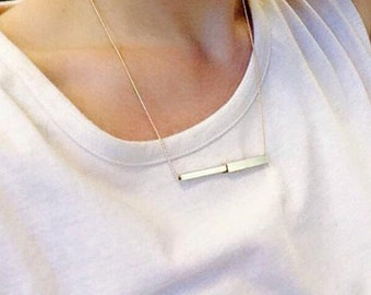 Tube necklace | Gold plated & Silver plated