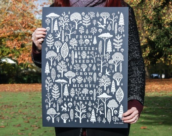Mighty Trees Print - A2 Artists Screen Print