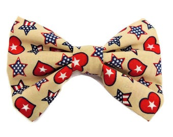 Country Americana Slip-On Collar Bow Tie