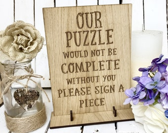 Puzzle sign, wedding puzzle sign, Jigsaw sign, wedding jigsaw sign, puzzle guest book, puzzle guestbook, wedding puzzle, wedding sign 13WS