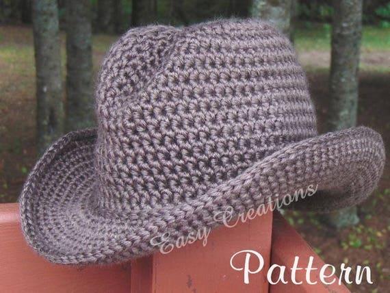 Crochet Pattern Double Strand Cowboy Cowgirl Hat Cap Boy Girl