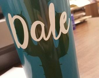Cactus monogram {personalize}