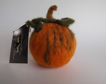"""4"""" Felted Wool Pumpkin"""