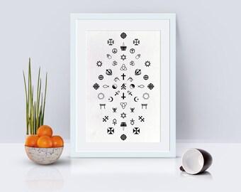 Sssymbolism Poster Print Wall Art