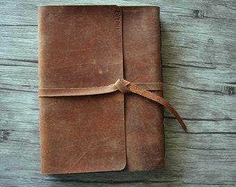 Leather Photo Albums Wedding, Handmade Leather Scrapbook, Rustic Wedding Guestbook, Baby Memory Album, Wedding Gift