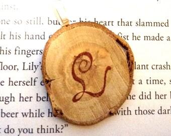 Chestnut Wood Slice Pendant - Large