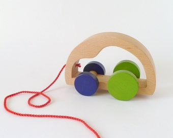 Pull car toy - Pull along toy for toddlers
