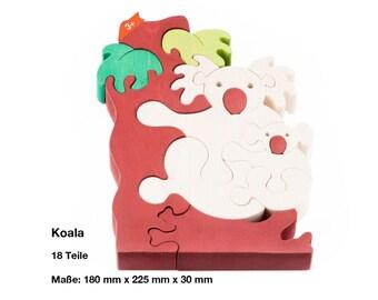 Wooden puzzle koala bear