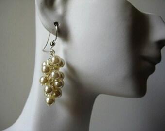 Ivory Pearl Cascade Earrings