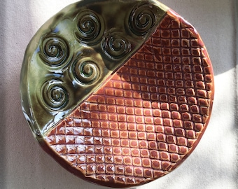 Handcrafted Stoneware Clay Abstract Bowl