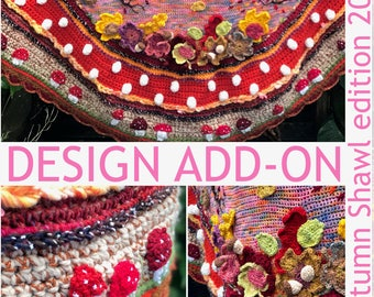 UK/USA design add-on Autumn Shawl edition 2017 #polleviewrap