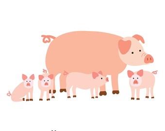 Pigs (4x4 Card)