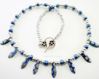 Blue Necklace - The Blue Peacock Beaded Necklace