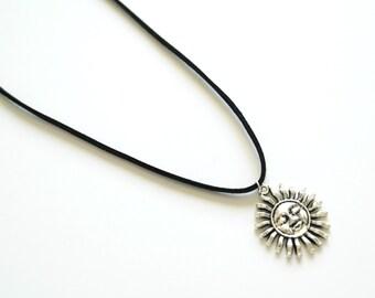 Soleil levant black cord necklace