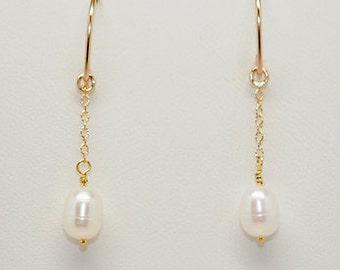 Baroque Freshwater Pearl Drop Earring