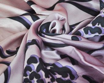"Handmade scarf ""Grape Dance"" (100% Silk)"