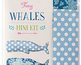 """Tilda USA! SUNKISS Collection by Tone Finnanger   Sun Kiss Tiny Whales Mini Kit   5.5""""   14cm   2 Whales   Sku 500006   Patchwork"""