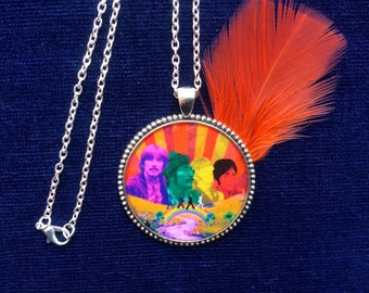 LIMITED EDITION! The Beatles Necklace/ 60s 70s Pendant/ Hippie, Music Festival/ Psychedelic Trippy Jewelry/ Gift