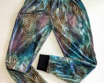 Limited Edition - LEOPARD VELVET JOGGERS