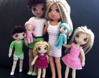 Kindabam Crochet Family Pattern PDF Downloadable file