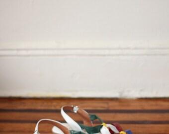 colorful vegan leather summer sandals