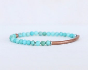 Turquoise and Copper Tube Skinny
