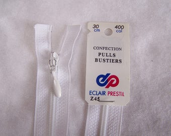 White nylon zipper (Z45 400)
