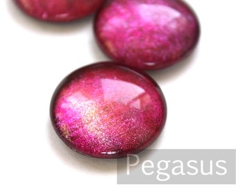 Claret Rose Red Cabochon round Glass Gem (3 Piece, 6 size options) Galaxy opal fpr wedding favor,elven costume,larp jewelry,princess circlet