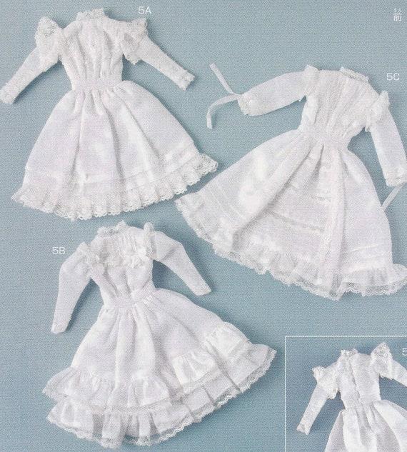 3 Licca Blythe BL body Edwardian country Lolita dresses 20-22cm ...