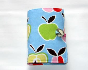 Tea Bag Case, Tea Wallet, Tea Bag Pouch, Tea Bag Wallet, Tea Bag Holder, Tea Holder, Tea Bag organizer,  Tea bag Storage, Pears & Apples
