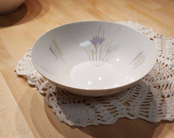 Set of Two Johann Haviland Bavaria Porcelain Serving Dishes or Vegetable Bowls in the Crocus Pattern presented by Donellensvintage