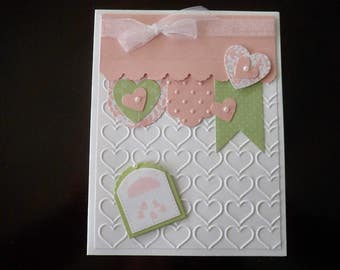 Custom Baby card, Handmade Greeting card, Handmade Baby Card, Baby Gift, Baby girl card, Baby Shower, Baby Gift, Expectant Mother, Welcome