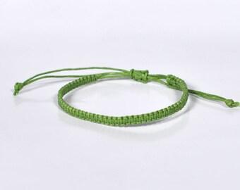 Mens Bracelet for Men string bracelet for Women bracelet Cord bracelet green bracelet adjustable bracelet macrame bracelet friendship